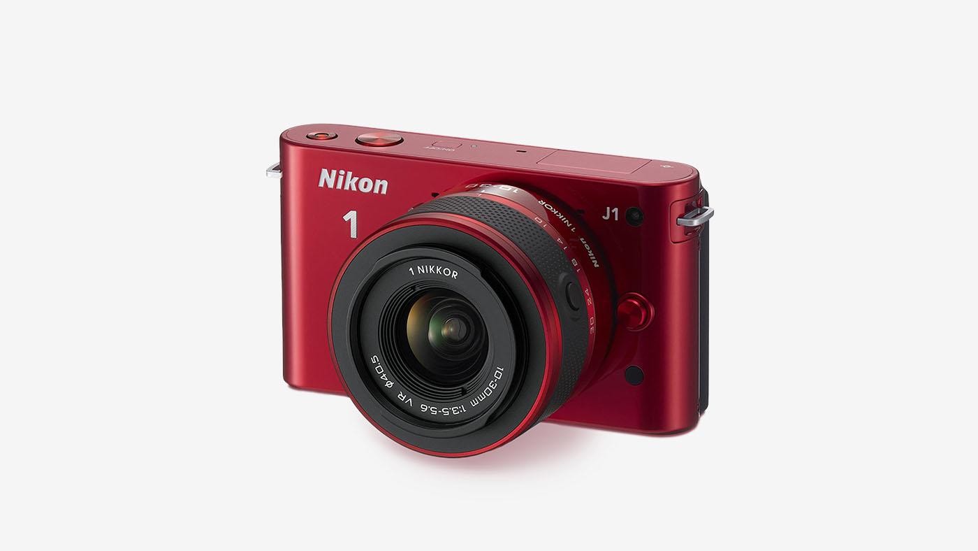 Nikon 1 J1 10.1 MP Digital Camera in Red
