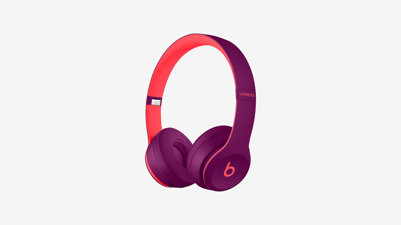 Refurbished Beats by Dr. Dre Solo3 Wireless Pop Magenta Beats Pop Collection On-Ear Headphones
